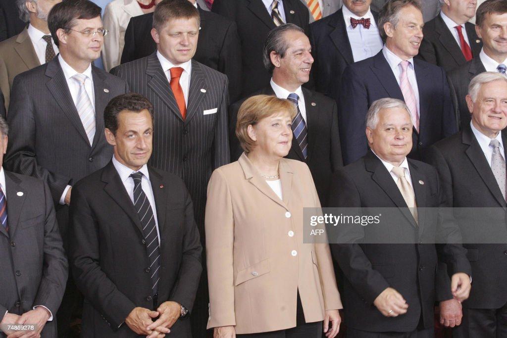Dutch Prime Minister Jan Peter Balkenende Slovakian Prime Minister Robert Fico Malta's Prime Minister Lawrence Gonzi and British Prime Minister Tony...