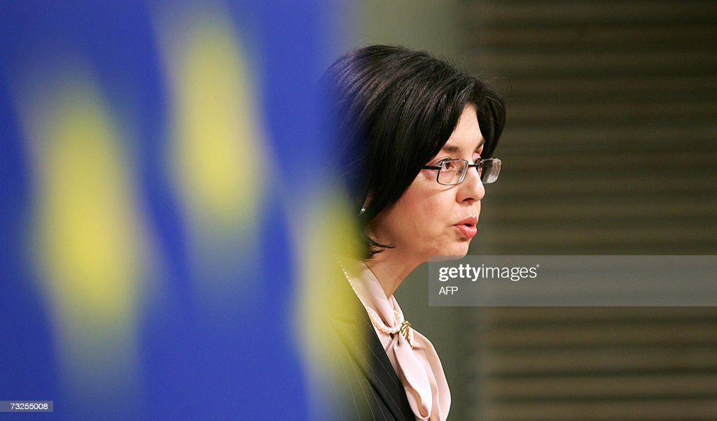 EU Commissioner for Consumer Protection Meglena Kuneva of Bulgaria gives a news conference on Green Paper on revising consumer protection legislation...