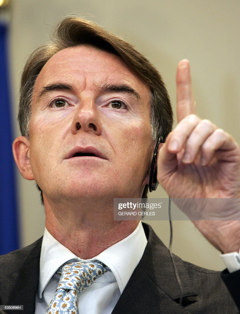 EU Commissioner for Trade British Peter Mandelson gives press conference in the EU Headquarters in Brussels 29 august 2005 Mandelson said he was...