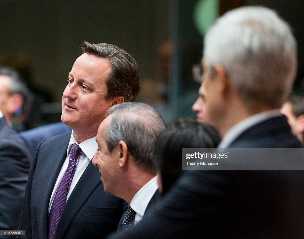 Brussels Belgium February 7 2013 British Prime Minister First Lord of the Treasury Minister for the Civil Service David William Donald CAMERON is...