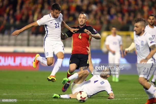 20170325 Brussels Belgium / Fifa WC 2018 Qualifying match Belgium vs Greece / 'Andreas SAMARIS Radja NAINGGOLAN Kostas MANOLAS'European Qualifiers /...