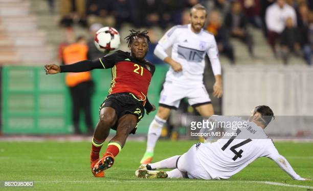 20171010 Brussels Belgium / Fifa World Cup 2018 Qualifying match Belgium v Cyprus / 'nMichy BATSHUAYI Vincent LABAN'nEuropean Qualifiers / Qualifying...