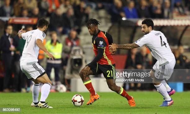 20171010 Brussels Belgium / Fifa World Cup 2018 Qualifying match Belgium v Cyprus / 'nKostas LAIFIS Michy BATSHUAYI Giorgos MERKIS'nEuropean...