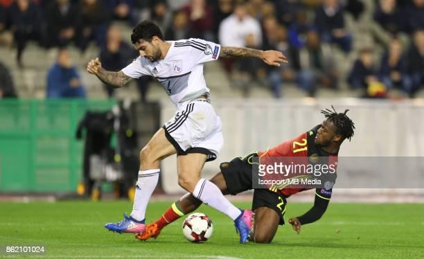 20171010 Brussels Belgium / Fifa World Cup 2018 Qualifying match Belgium v Cyprus / 'nGiorgos MERKIS Michy BATSHUAYI'nEuropean Qualifiers /...