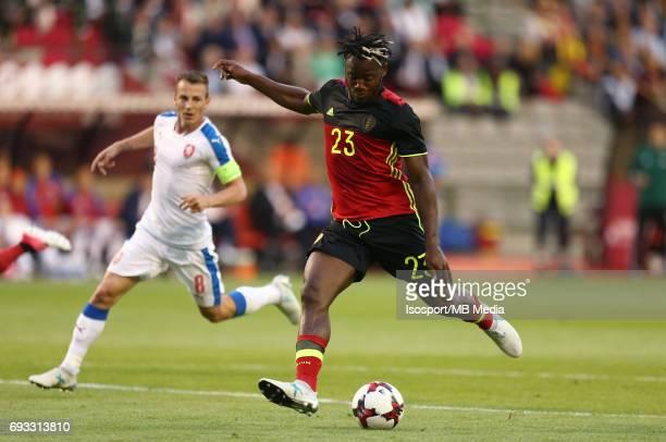 20170605 Brussels Belgium / International friendly game Belgium v Czech Republic /'nMichy BATSHUAYI Vreugde Joie Celebration'nPicture by Vincent Van...
