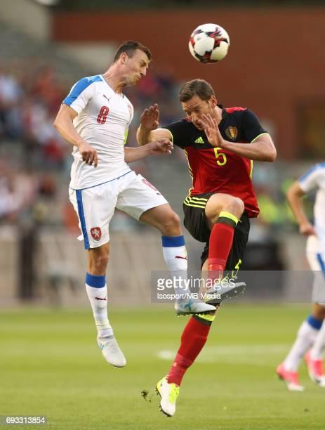 20170605 Brussels Belgium / International friendly game Belgium v Czech Republic /'nVladimir DARIDA Jan VERTONGHEN'nPicture by Vincent Van Doornick /...