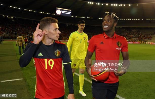 20170605 Brussels Belgium / International friendly game Belgium v Czech Republic /'nThomas VERMAELEN Michy BATSHUAYI'nPicture by Vincent Van Doornick...
