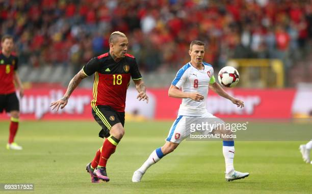 20170605 Brussels Belgium / International friendly game Belgium v Czech Republic /'nRadja NAINGGOLAN Vladimir DARIDA'nPicture by Vincent Van Doornick...