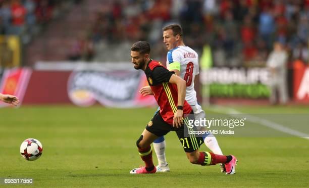 20170605 Brussels Belgium / International friendly game Belgium v Czech Republic /'nYannick CARRASCO Vladimir DARIDA'nPicture by Vincent Van Doornick...