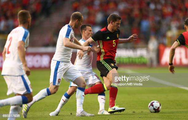 20170605 Brussels Belgium / International friendly game Belgium v Czech Republic /'nMichael KRMENCIK Vladimir DARIDA Jan VERTONGHEN'nPicture by...