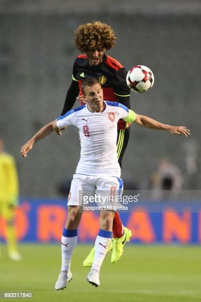 20170605 Brussels Belgium / International friendly game Belgium v Czech Republic /'nMarouane FELLAINI Vladimir DARIDA'nPicture by Vincent Van...