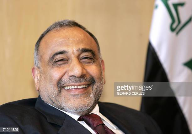 Iraki vice president Adel Abdul Mahdi smiles prior to a bilatreal meeting with EU Foreign Policy Chief Javier Solana at EU Headquarters in Brussels...