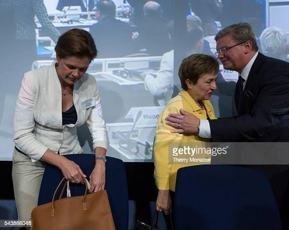 Brussels Belgium July 16 2014 Slovenijan Prime Minister Alenka BRATUSEK the EU International Cooperation Humanitarian Aid and Crisis Response...