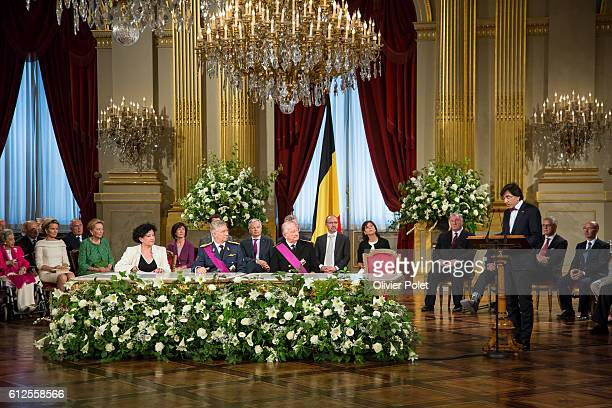 Brussels Belgium July 21 2013 Abdication of King Albert II at the Royal Palace of Brussels Elio Di Rupo Prime Minister of Belgium speaks during the...