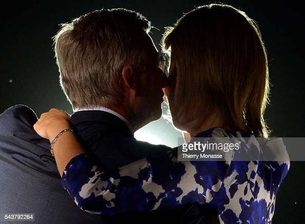 Brussels Belgium July 21 2013 Belgium King Philippe and Belgium Queen Mathilde during the July 21 ceremony