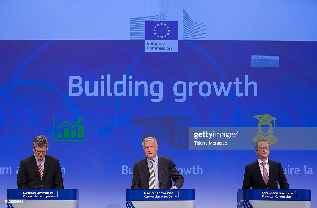 Brussels Belgium June 2 2014 EU Taxation Customs Statistics Audit and AntiFraud Commissioner Algirdas SEMETA EU Economic and Monetary Affairs and the...