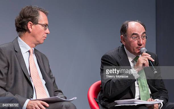 Brussels Belgium October 12 2013 CEOs of ten major Energy companies presser CEO of GasTerra BV Gertjan J LANKHORST and the Chairman and Chief...