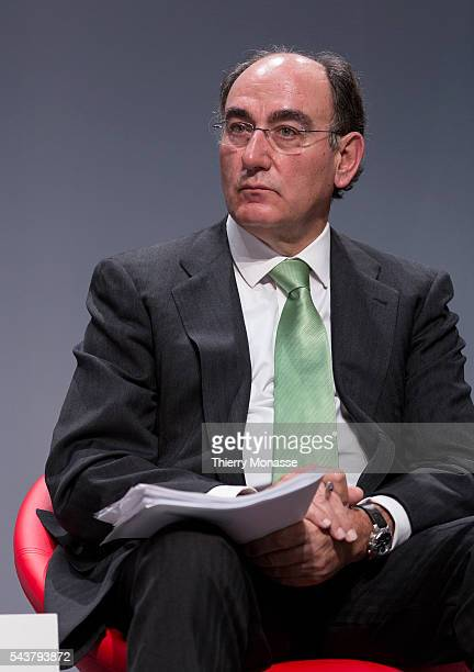 Brussels Belgium October 12 2013 CEOs of ten major Energy companies presser Chairman and Chief Executive Officer of Iberdrola Jose Ignacio SANCHEZ...