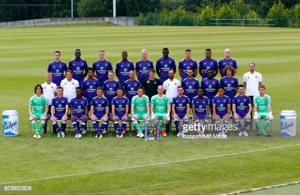 20170711 Brussels Belgium / Photoshoot Rsc Anderlecht 2017 2018 / 'n'nBack row Uros SPAJIC Kara MBODJI Lukasz TEODORCZYK Idrissa DOUMBIA Olivier...