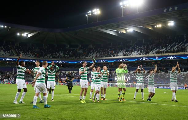 20170927 Brussels Belgium / Rsc Anderlecht v Celtic Fc / 'nCelebration'nFootball Uefa Champions League 2017 2018 Group stage Matchday 2 Group B /...