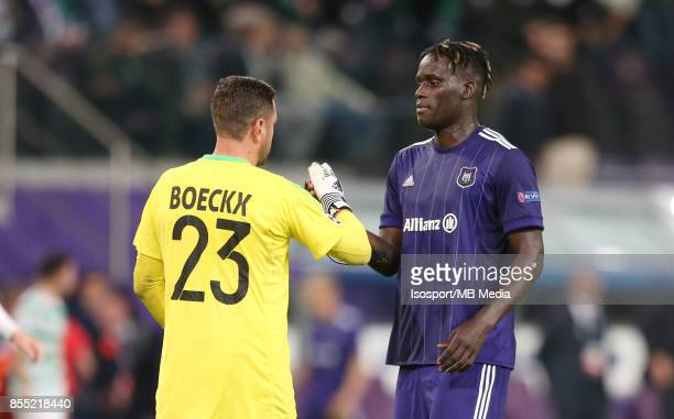20170927 Brussels Belgium / Rsc Anderlecht v Celtic Fc / 'nFrank BOECKX Kara MBODJI'nFootball Uefa Champions League 2017 2018 Group stage Matchday 2...