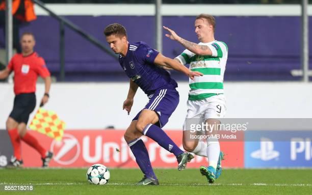 20170927 Brussels Belgium / Rsc Anderlecht v Celtic Fc / 'nLeander DENDONCKER Leigh GRIFFITHS'nFootball Uefa Champions League 2017 2018 Group stage...