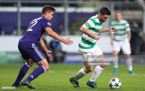 20170927 Brussels Belgium / Rsc Anderlecht v Celtic Fc / 'nLeander DENDONCKER Patrick ROBERTS'nFootball Uefa Champions League 2017 2018 Group stage...