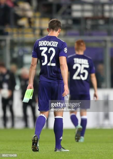 20170927 Brussels Belgium / Rsc Anderlecht v Celtic Fc / 'nLeander DENDONCKER Deception'nFootball Uefa Champions League 2017 2018 Group stage...