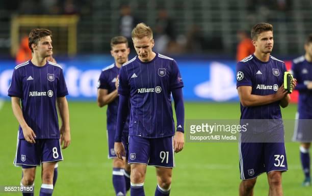 20170927 Brussels Belgium / Rsc Anderlecht v Celtic Fc / 'nLukasz TEODORCZYK Leander DENDONCKER Deception'nFootball Uefa Champions League 2017 2018...