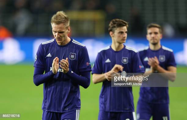 20170927 Brussels Belgium / Rsc Anderlecht v Celtic Fc / 'nLukasz TEODORCZYK Deception'nFootball Uefa Champions League 2017 2018 Group stage Matchday...