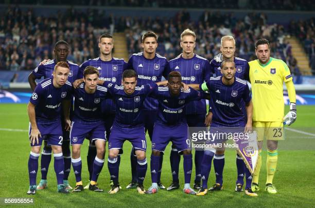 20170927 Brussels Belgium / Rsc Anderlecht v Celtic Fc / 'nTeam picture'nFootball Uefa Champions League 2017 2018 Group stage Matchday 2 Group B /...