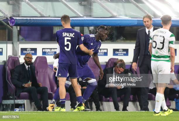 20170927 Brussels Belgium / Rsc Anderlecht v Celtic Fc / 'nUros SPAJIC Kara MBODJI'nFootball Uefa Champions League 2017 2018 Group stage Matchday 2...