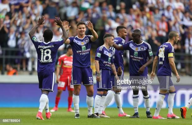 20170521 Brussels Belgium / Rsc Anderlecht v Kv Oostende /'nLeander DENDONCKER Vreugde Joie Celebration'nJupiler Pro League PlayOff 1 Matchday...