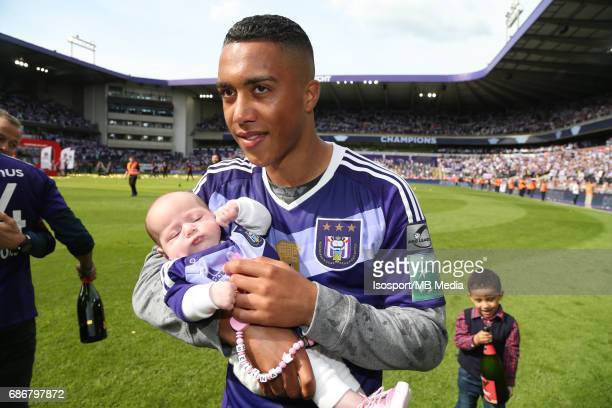 20170521 Brussels Belgium / Rsc Anderlecht v Kv Oostende /'nMelina and Youri TIELEMANS'nJupiler Pro League PlayOff 1 Matchday 10'nPicture by Vincent...