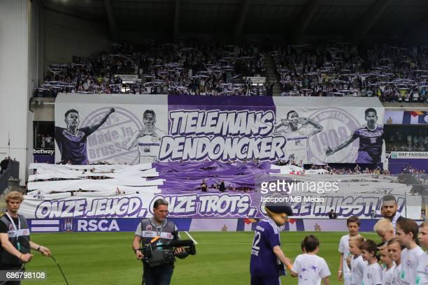 20170521 Brussels Belgium / Rsc Anderlecht v Kv Oostende /'nSupporters Tfo Leander DENDONCKER'nJupiler Pro League PlayOff 1 Matchday 10'nPicture by...
