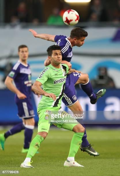 20170427 Brussels Belgium / Rsc Anderlecht v Sporting Charleroi / 'nHamdi HARBAOUI Leander DENDONCKER'nJupiler Pro League PlayOff 1 Matchday 5 at the...