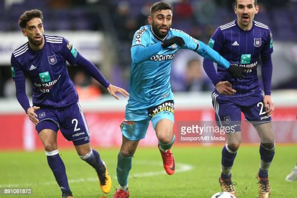 20171210 Brussels Belgium / Rsc Anderlecht v Sporting Charleroi / 'nJosue SA Kaveh REAZAEI Sven KUMS'nFootball Jupiler Pro League 2017 2018 Matchday...