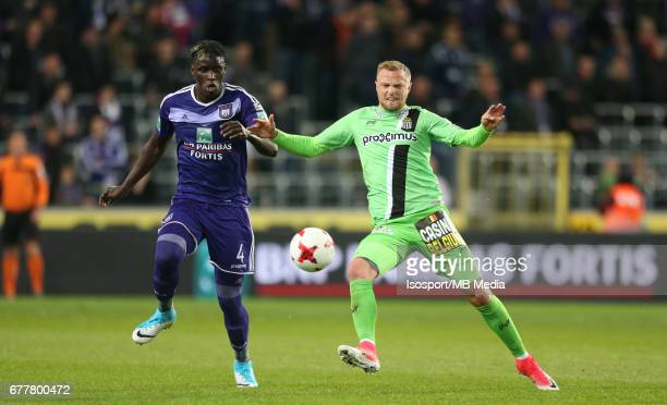 20170427 Brussels Belgium / Rsc Anderlecht v Sporting Charleroi / 'nKara MBODJI David POLLET'nJupiler Pro League PlayOff 1 Matchday 5 at the Constant...