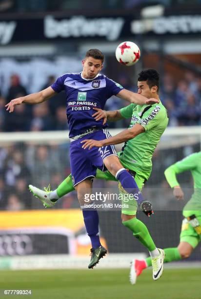 20170427 Brussels Belgium / Rsc Anderlecht v Sporting Charleroi / 'nLeander DENDONCKER Hamdi HARBAOUI'nJupiler Pro League PlayOff 1 Matchday 5 at the...