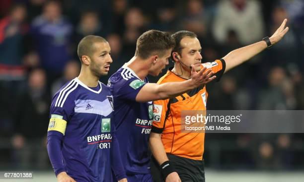 20170427 Brussels Belgium / Rsc Anderlecht v Sporting Charleroi / 'nSofiane HANNI Leander DENDONCKER Alexandre BOUCAUT'nJupiler Pro League PlayOff 1...