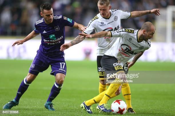 20170908 Brussels Belgium / Rsc Anderlecht v Sporting Lokeren / 'nMassimo BRUNO Ari Freyr SKULASON Steve DE RIDDER'nFootball Jupiler Pro League 2017...