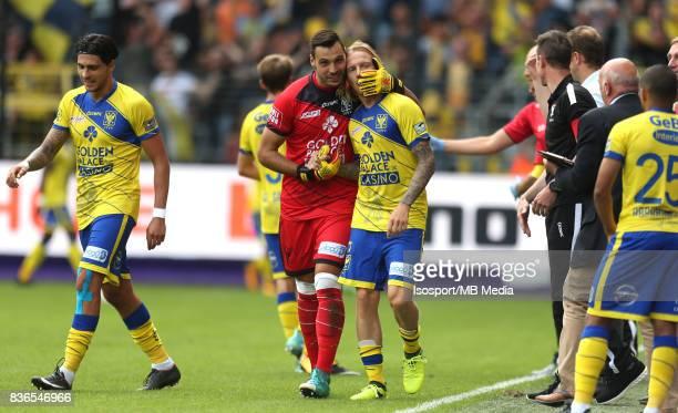20170820 Brussels Belgium / Rsc Anderlecht v Stvv / 'nLucas PIRARD Jonathan LEGEAR Celebration'nFootball Jupiler Pro League 2017 2018 Matchday 4 /...