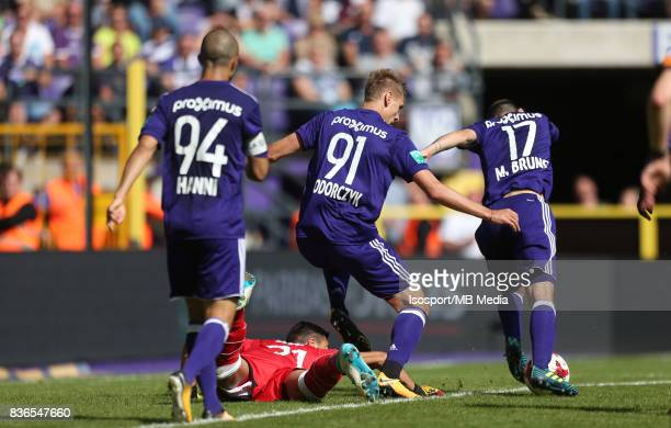 20170820 Brussels Belgium / Rsc Anderlecht v Stvv / 'nLucas PIRARD Lukasz TEODORCZYK Massimo BRUNO'nFootball Jupiler Pro League 2017 2018 Matchday 4...