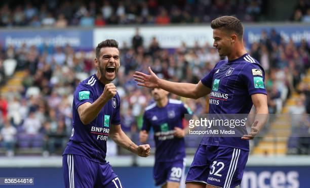 20170820 Brussels Belgium / Rsc Anderlecht v Stvv / 'nMassimo BRUNO Celebration'nFootball Jupiler Pro League 2017 2018 Matchday 4 / 'nPicture by...