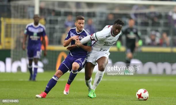20170507 Brussels Belgium / Rsc Anderlecht v Zulte Waregem 'nAlexandru CHIPCIU Soualiho MEITE'nJupiler Pro League PlayOff 1 Matchday 7 at the...