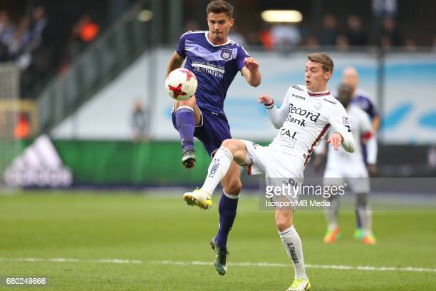 20170507 Brussels Belgium / Rsc Anderlecht v Zulte Waregem 'nLeander DENDONCKER Sander COOPMAN'nJupiler Pro League PlayOff 1 Matchday 7 at the...