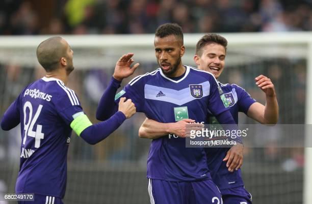 20170507 Brussels Belgium / Rsc Anderlecht v Zulte Waregem 'nSofiane HANNI Isaac Kiese THELIN Leander DENDONCKER Vreugde Joie Celebration'nJupiler...