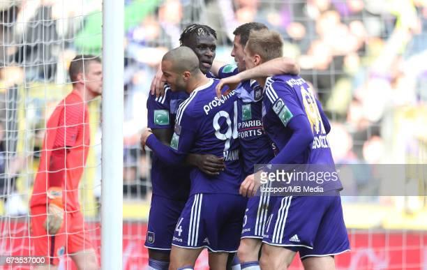 20170423 Brussels Belgium / Rsc Anderlecht vs Club Brugge / 'nKara MBODJI Vreugde Joie Celebration'nJupiler Pro League PlayOff 1 Matchday 4 at the...