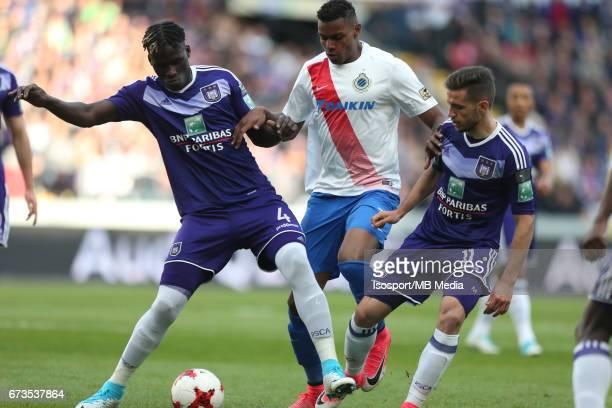 20170423 Brussels Belgium / Rsc Anderlecht vs Club Brugge / 'nKara MBODJI Wesley MORAES Alexandru CHIPCIU'nJupiler Pro League PlayOff 1 Matchday 4 at...