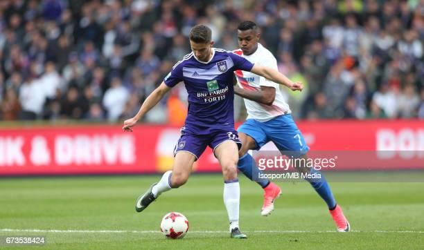 20170423 Brussels Belgium / Rsc Anderlecht vs Club Brugge / 'nLeander DENDONCKER Wesley MORAES'nJupiler Pro League PlayOff 1 Matchday 4 at the...